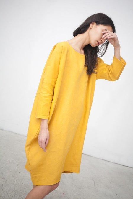 Rachel Craven Short Cocoon Dress in Turmeric