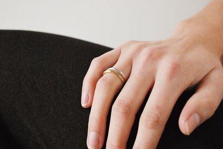 Rachel Gunnard Waning Crescent Ring - Silver/Brass