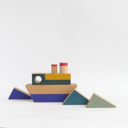 The Wandering Workshop Construction Toy Boat