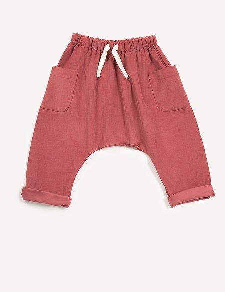 Kids Petits Vilains Clothier Blaise Harem Trousers - Rose