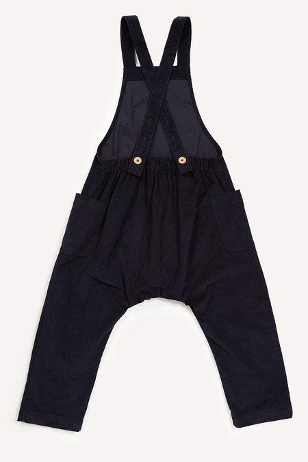Kids Petits Vilains Clothier Claude Overalls - Black
