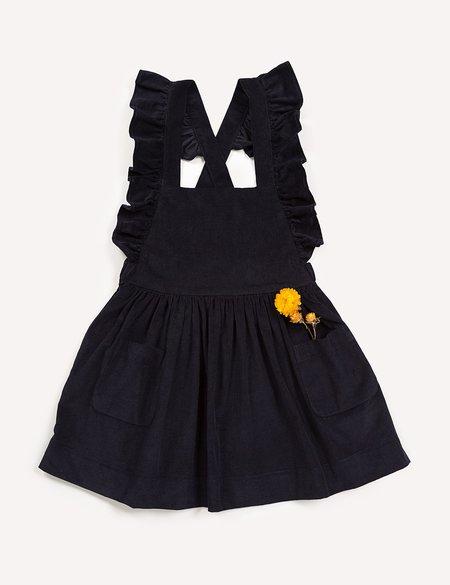 Kids Petits Vilains Clothier Inès Pinafore Dress - Navy