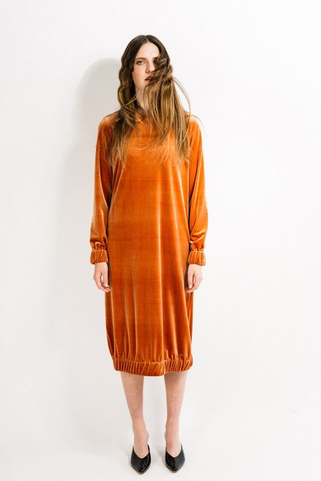 Beth Bridge Dress - Copper Velvet