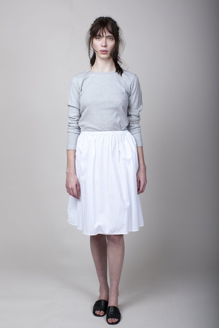 Pip-squeak Chapeau Etc. Slim Gathered Skirt - White