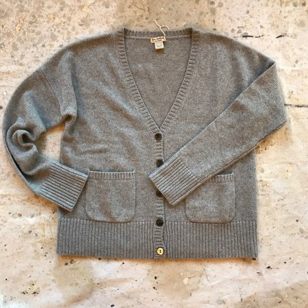 New Scotland Cashmere Cardigan - gray