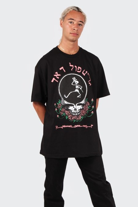 PLEASURES Skull & Rose T-Shirt - black