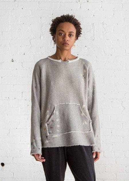 Raquel Allegra Tunic Sweatshirt - Heather Grey Paint